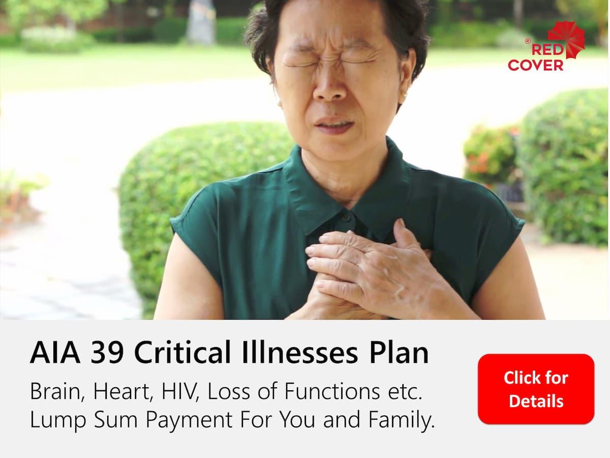 AIA 39 Critical Illnessess Plan